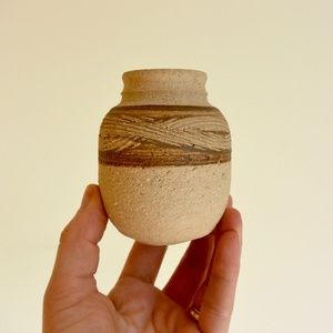 Earthy Hand Throw Small Ceramic Bud Vase